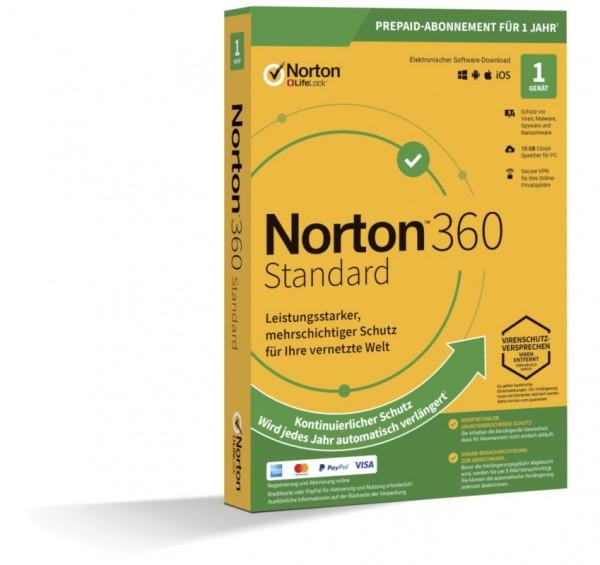 NORTON 360 STANDARD 2019 (Internet Security) 1-Gerät / 1-Jahr ABO inkl.10GB BOX