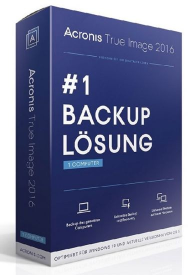 Acronis True Image 2016, 2 Geräte Sonderedition, Box, PC/Mac