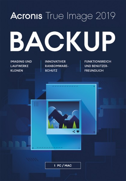 Acronis True Image 2019, 1 Gerät, Dauerlizenz, Download