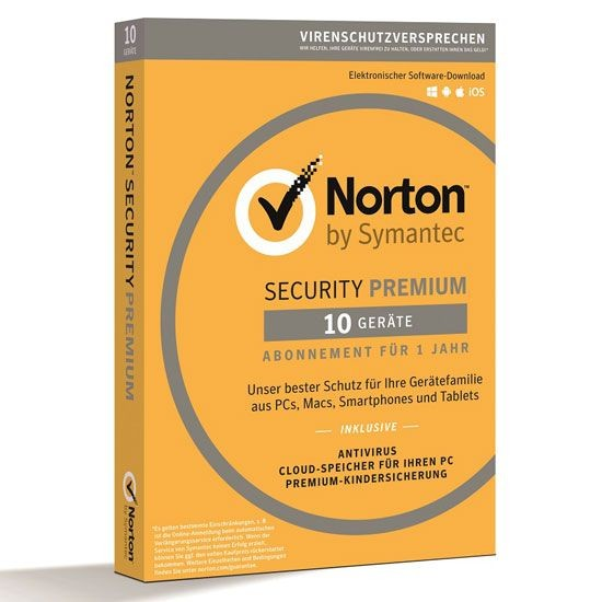 NORTON SECURITY Premium 3.0, 10 Geräte, BOX (Card Case)