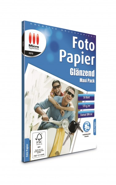 AvanQuest A4 Foto Papier Glänzend- 170 g/m² - 50 Blatt