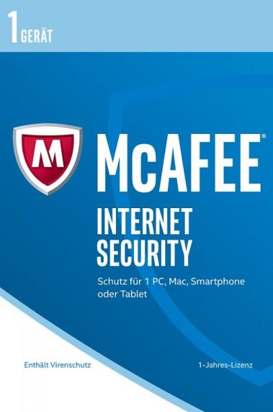 McAfee 2017 Internet Security 1 Gerät, Frustfreie Verpackung