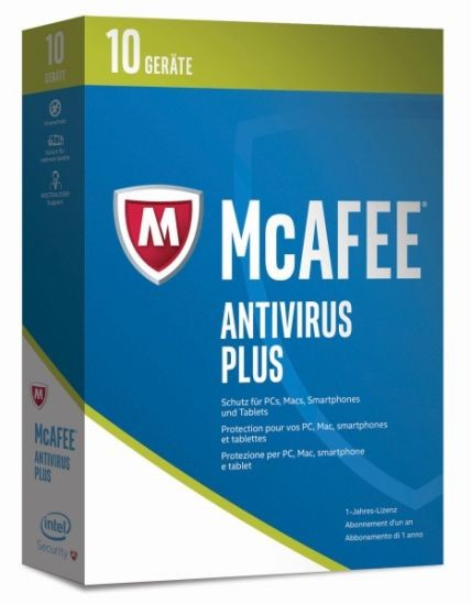 McAfee 2017 AntiVirus Plus - 10 Geräte - (Code Only) #BOX