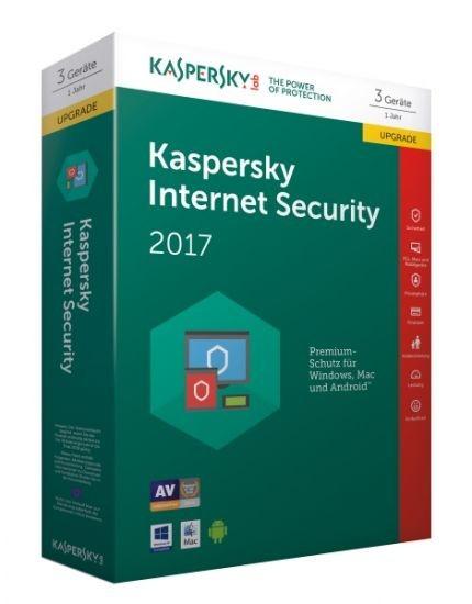 Kaspersky Internet Security 2017 - 3 Geräte - Upgrade (Code Only) #BOX