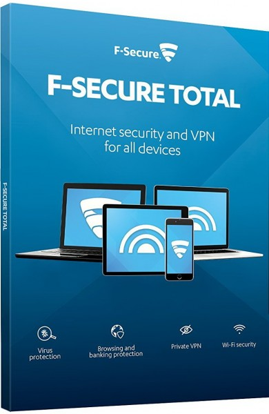 F-Secure Total Security 2020 inkl. VPN, Deutsch, 3 Geräte, 1 Jahr, Download