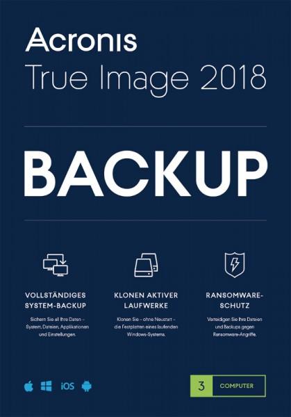 Acronis True Image 2018, 3 Geräte Dauerlizenz, Download