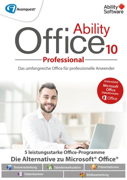 Ability Office 10 Professional #PKC (Karte mit Key und Download-Link)