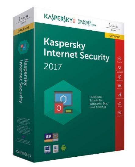 Kaspersky Internet Security 2017 - 1 Gerät - Upgrade (Code Only) #BOX
