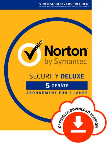 NORTON SECURITY Deluxe 3.0, 5 Geräte, -3 Jahre- Download