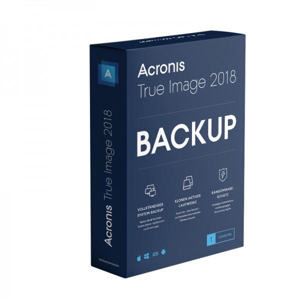 Acronis True Image 2018, 1 Gerät, Dauerlizenz BOX