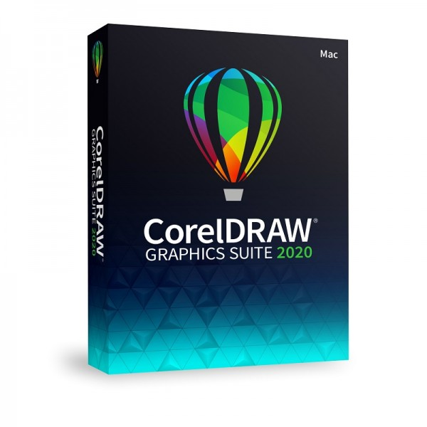 CorelDRAW Graphics Suite 2020 Vollversion Mac, Deutsch, SlimCase