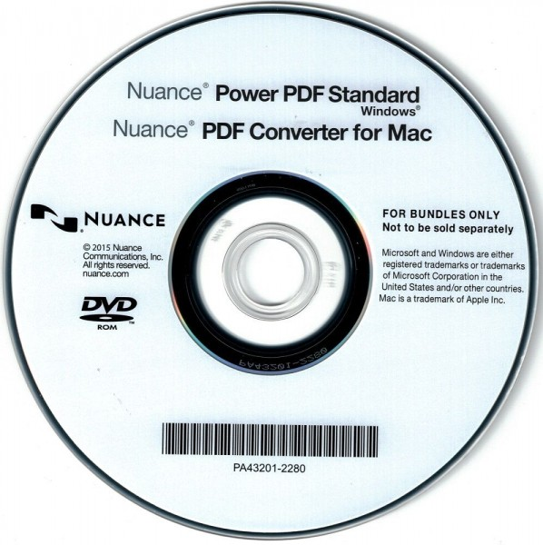 Nuance Power PDF Standard OEM für Windows, (PDF Converter für MAC), CD