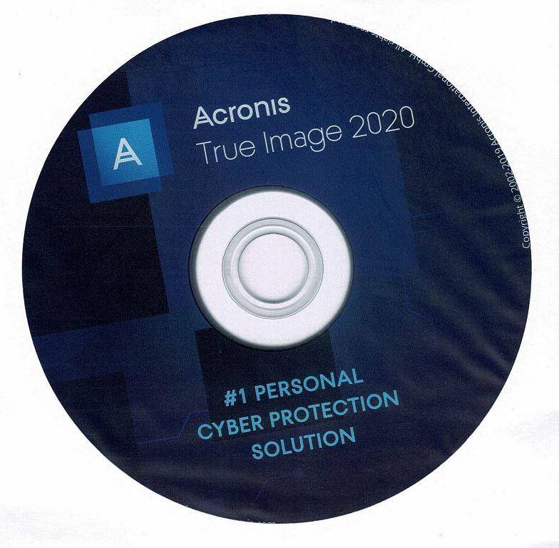 Acronis True Image 2020, Bootfähige DVD für Windows (OHNE KEY) nicht zutreffend