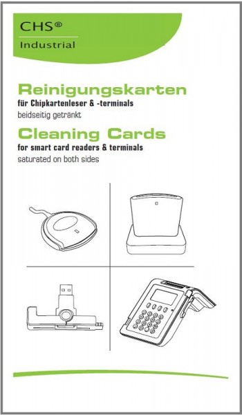 CHS SCR Cleaning-Card 3 Reinigungskarten für Chipkartenleser SCM CHIPDRIVE