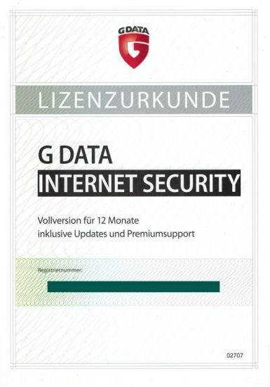 G DATA Internet Security, 1 User, 1 Jahr, PKC (Karte mit KEY)