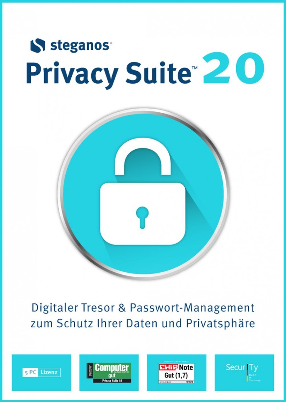 Steganos Privacy Suite 20, 5 Geräte, Download ST-12022-LIC