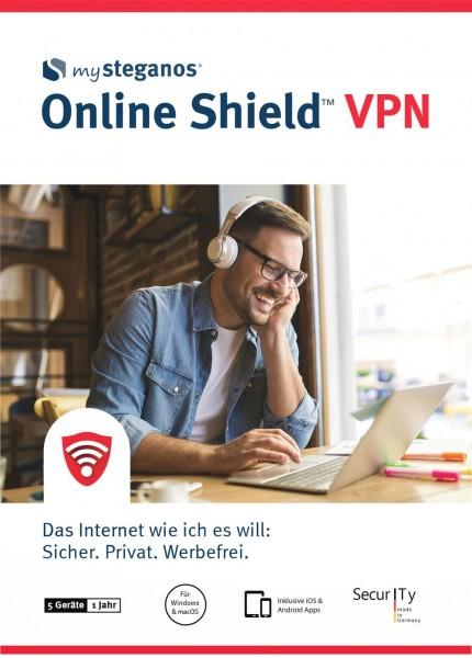 mySteganos Online Shield VPN, 5 Geräte, 1 Jahr, Download