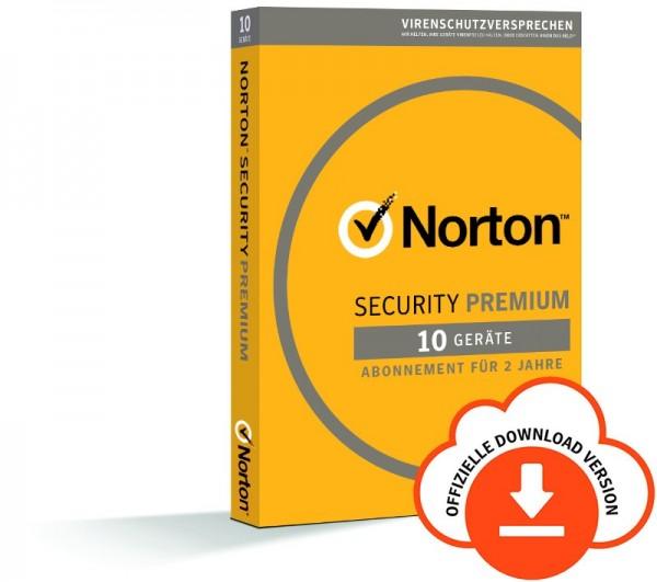 NORTON SECURITY Premium 3.0 10 Geräte,2Jahre Download -inkl.25GB Cloud-Speicher