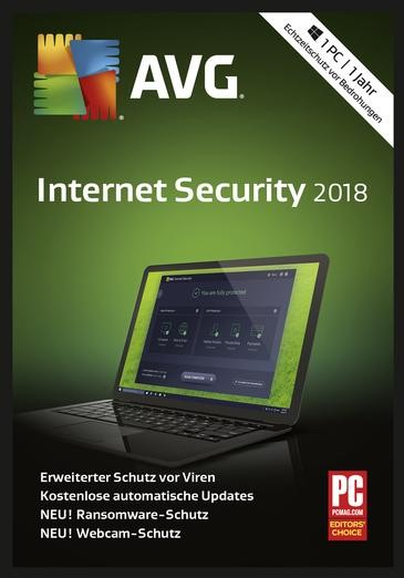 AVG Internet Security 2018, 1 PC, 1 Jahr, Download