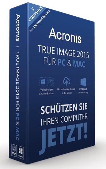 Acronis True Image 2015 für PC und Mac 3 Geräte, BOX