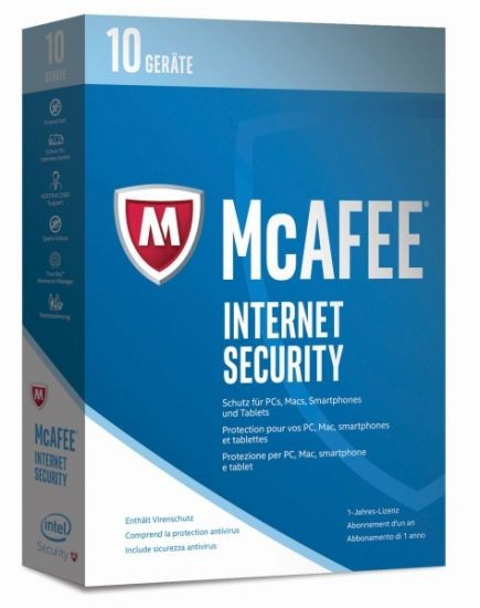 McAfee 2017 Internet Security - 10 Device - (Code Only) #BOX
