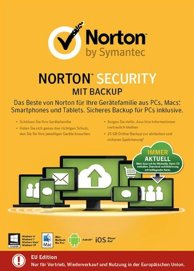 NORTON SECURITY 2.0., inkl. BACKUP 25GB, 10 Geräte, KEY