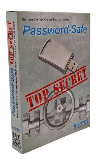 IDENTOS Password-Safe ID50 TOP SECRET Box MIT Mobile USB-Stick Passwort-Manager
