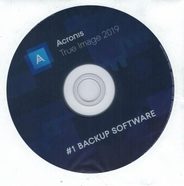 Acronis True Image 2019, Bootfähige DVD für Windows (OHNE KEY)