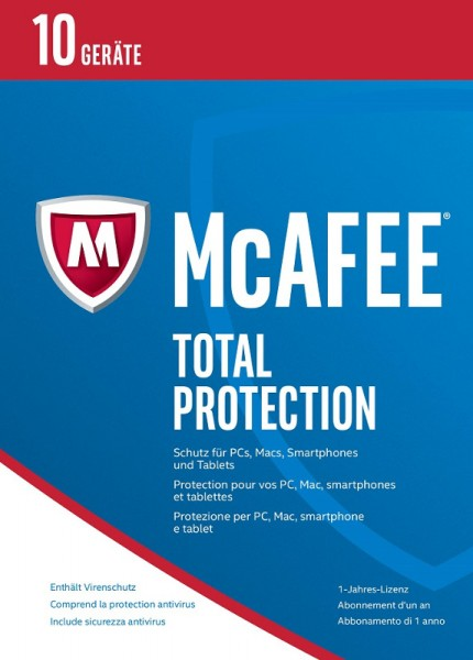 McAfee Total Protection 10 Geräte 2017 Download
