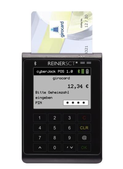 ReinerSCT cyberJack POS Kartenzahlungsterminal für Girocard (EC-Karte) mit Akku