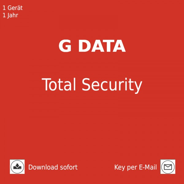G DATA Total Security, 1 PC 1 Jahr Download