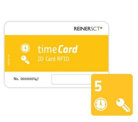 ReinerSCT REINER SCT timeCard RFID Chipkarten 5 Stk. (DES) 2749600-359