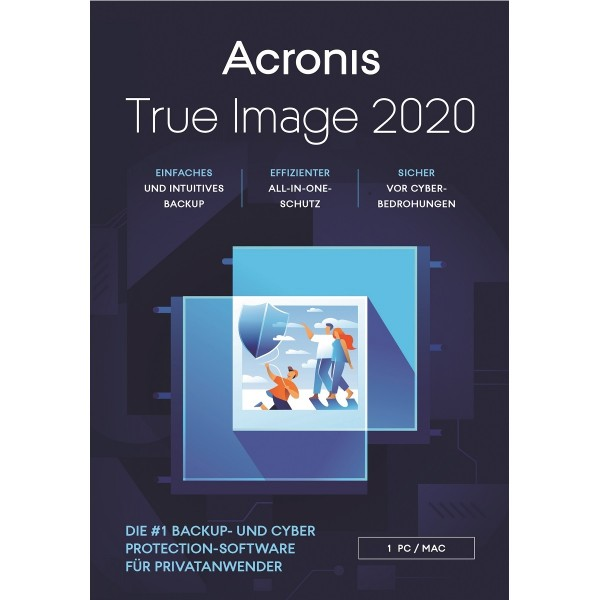 Acronis True Image 2020, 1 PC / 1 Jahr, inkl.250GB Cloud, Download