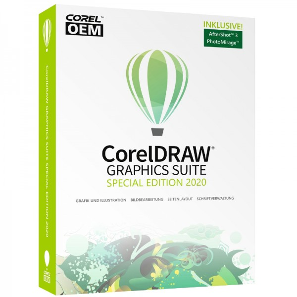 CorelDRAW Graphics Suite Special Edition 2020 OEM +AfterShot3+PhotoMirage, Box