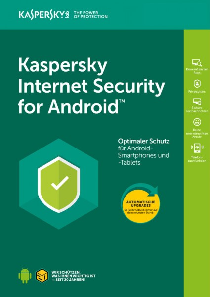 Kaspersky Internet Security für Android 2 Geräte 1 Jahr Verlängerung Download