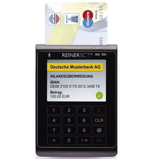 ReinerSCT cyberJack WAVE USB-Chipkartenleser mit TFT-Display + Bluetooth