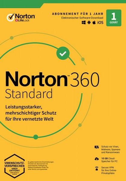 NORTON 360 STANDARD 2020 1 Gerät / 1 Jahr inkl. 10GB, KEIN ABO, Download