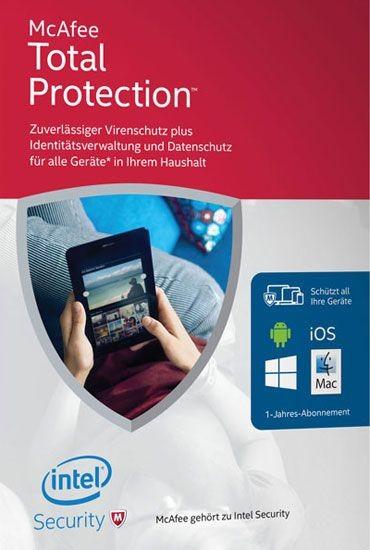 McAfee Total Protection Unlimited Geräte(50), 1 Jahr, Download (gültig 2020/2021)