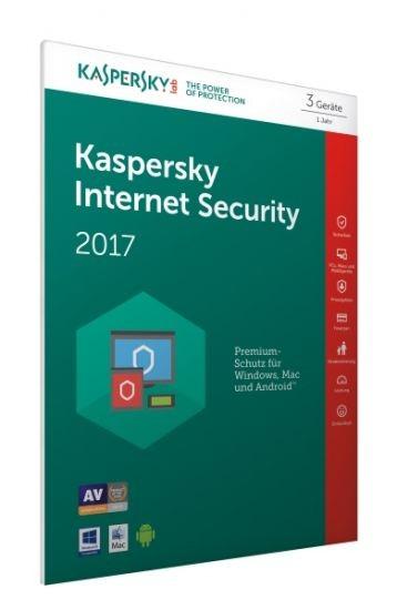 Kaspersky Internet Security 2017 - 3 Geräte - (Code Only) #FFP