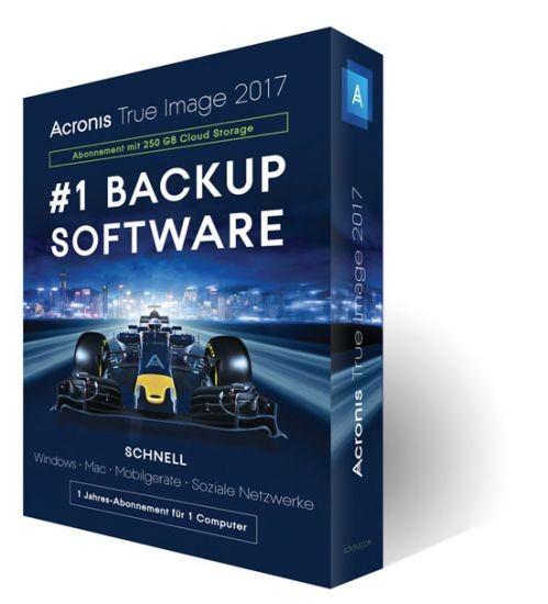 Acronis True Image 2017, 1 Gerät, 1 Jahr inkl.250GB Cloud, BOX