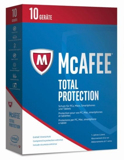 McAfee 2017 Total Protection - 10 Device - (Code Only) #BOX