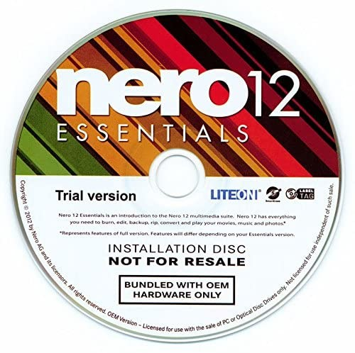Nero 12 Essentials OEM, CD im PaperCase NERO12OEM