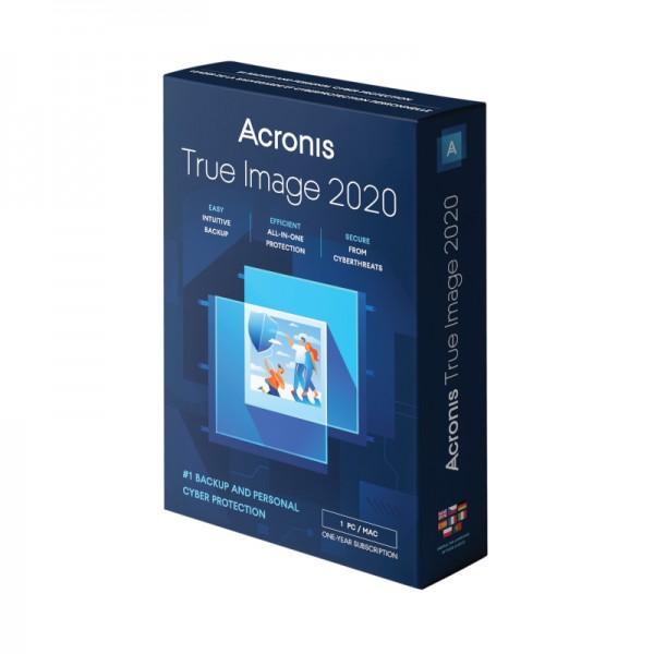 Acronis True Image 2020, 1 PC / 1 Jahr, inkl.250GB Cloud, BOX