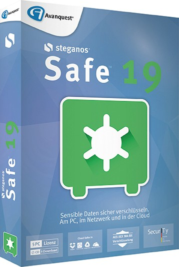 AvanQuest Steganos Safe 19, 5 PC, BOX mit CD ST-11792