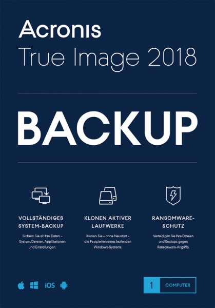 Acronis True Image 2018, 1 Gerät, Dauerlizenz, Download