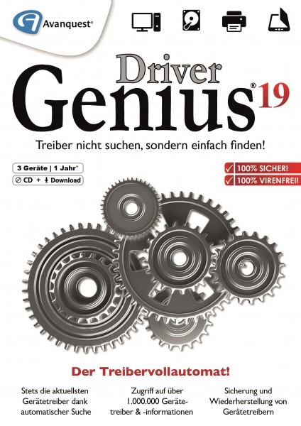 Driver Genius 19, 3 Geräte, 1 Jahr #DOWNLOAD