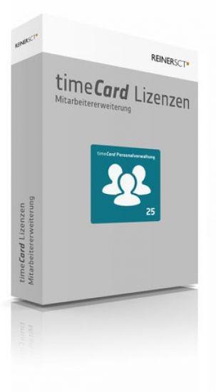 REINER SCT timeCard 6 Personalverwaltung Erweiterung um 25 Benutzer