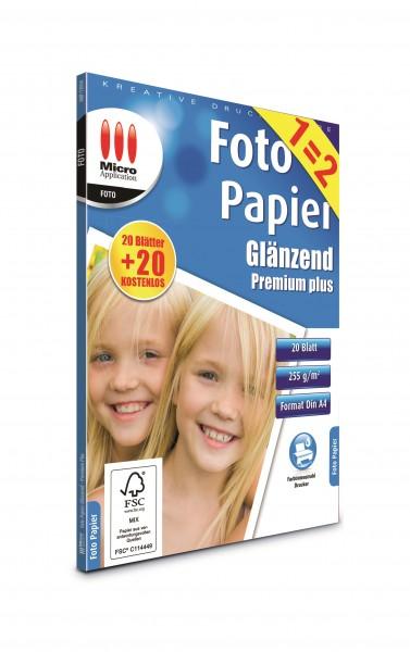 AvanQuest A4 Foto Papier Glänzend - Premium Plus - 255 g/m²