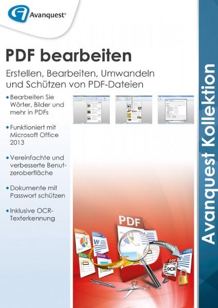 AvanQuest PDF bearbeiten - Erstellen, Bearbeiten, Umwandeln und Schützen(CD+Key)