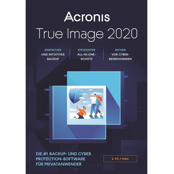 Acronis True Image 2020, 5 Geräte, Dauerlizenz, Download